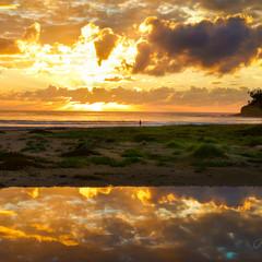 Arrawarra Sunrise - A3 Fine Art Giclée Print - Free Shipping