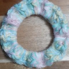 Unicorn Crochet Hair Scrunchie