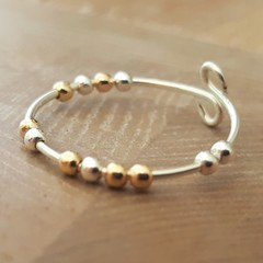 Sterling silver morse code anxiety ring