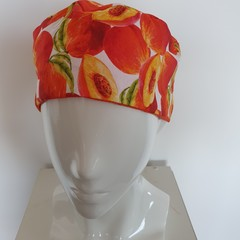Hat adult-peaches & bright orange