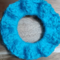 Deluxe Aquarius Crochet Hair Scrunchie