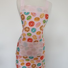 Apron adult-donuts & pale pink