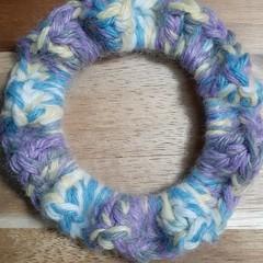 Tutti Fruity Crochet Hair Scrunchie