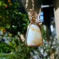 Australian Andamooka Crystal Opal 14k gold fill wire wrapped