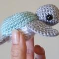 Handmade Crochet Ocean Creatures Soft Toys, DIY Baby Mobile, Amigurumi, Kids Sof