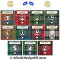 Clan Anderson Tartan Badge Motto AfreshDesignPB