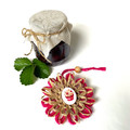 Gift Boxed Bloom Rustic Decoration Keepsake Flower Cupcake Button Natural Pink