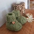 Knitted Baby Booties, Australian wool, Newborn, Gender neutral, Unisex booties,