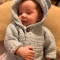 Crochet Bear Jacket/ Hoodie, Baby Shower
