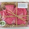 Newborn Baby Gift Set | Beanie / Hat | Pair Booties | Hand Knitted |  Melon Pink