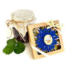 Gift Boxed Bloom Rustic Decor Keepsake Flower Cupcake Button Green Blue Pink