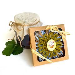 Gift Boxed Bloom Rustic Decor Keepsake Flower Cupcake Button Green Blue