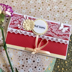 """""""Best Wishes"""" -Gift card Envelope #2"""