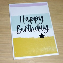 Birthday card - blue & yellow