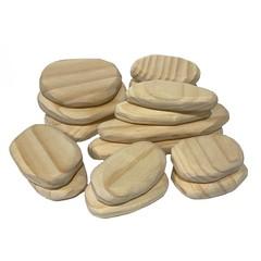 Wooden Flat Stacking Rocks (16 Piece Set)