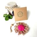 Gift Boxed Bloom Rustic Decoration Keepsake Flower Cupcake Button Pink