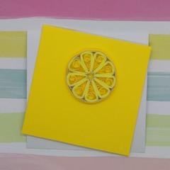 Mini Card Lemon Slice