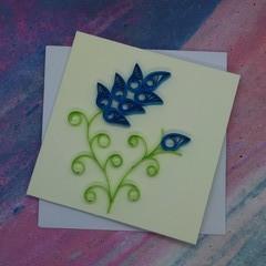 Mini Card Blue Flower