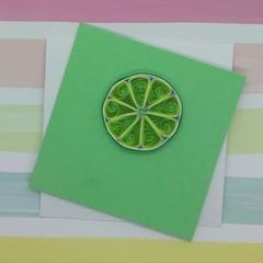 Mini Card Lime Slice