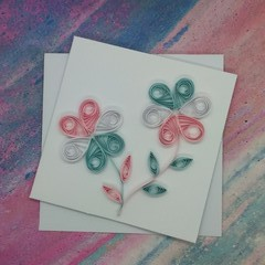 Quilled Mini Card in Transgender Colours
