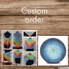 CUSTOM ORDER FOR MARCELENA - Summer cotton shawl in blue