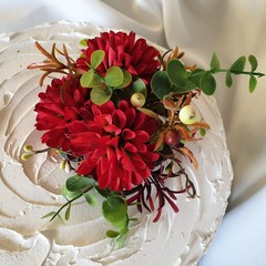 Cake Topper Male Birthday Silk Flowers