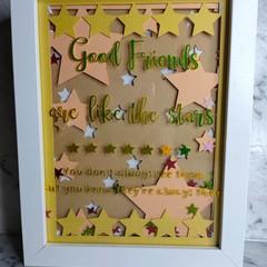 Good Friends Shadow box - 15cm x 20cm