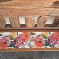 """REVERSIBLE TABLE RUNNER/BRODERIE ANGLAISE INLAY/30CM X 146CM/12"""" X 29"""""""