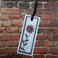 Quilled Bookmark Bronze and Gold Flower