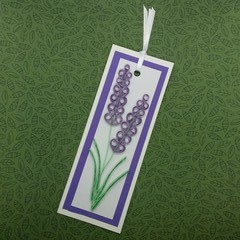 Quilled Bookmark Lavender