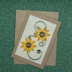 Quilled Card Double Sunflower