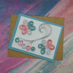 Quilled Card in Transgender Colours