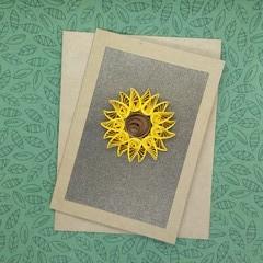 Quilled Card Sunflower