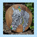 Round Handpainted Horse Serving Board