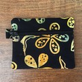 Coin Purse - Black/Gold Batik