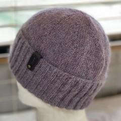 Heirloom Classic Knit Australian Alpaca Hand Knitted Beanie - Tea Rose
