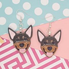 Kelpie Dog Resin Earrings Jewellery