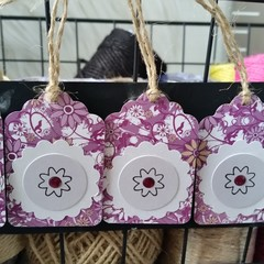 Gift Tag Set (5) | Purple Flowers