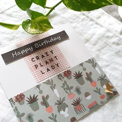 Birthday Card | Crazy Plant Lady