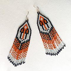 Eagle Feather Handwoven Earrings