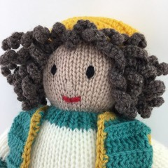 Doll | Hand Knitted and Crochet | Soft Toy | Baby Children Gift Idea | Pure Wool