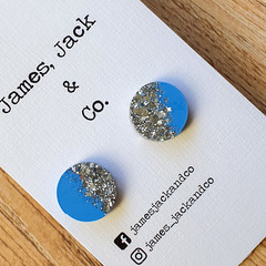 Day to Day Studs (Silver Sparkle)