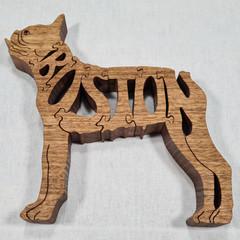 Boston Terrier - Woodimal - Handcut Premium Wooden Dog Puzzle