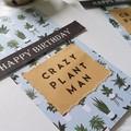 Birthday Card   Crazy Plant Man
