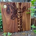 Handburnt Wooden Serving Board