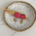 Textured Pink Studs with Gold Turtle Drop Handmade Earrings