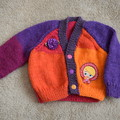 Hand knitted Baby Cardigan. Size 0-3 months