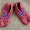 Hand Knitted Ladies Bed Slippers. Size 5-6 (AU)