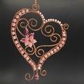 Pink Heart No. 2. Wall decor or window sun catcher