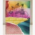 Llama party card